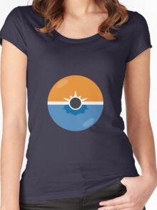 Sun and moon Women's Fitted Scoop T-Shirt