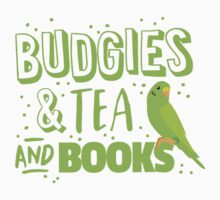 Budgies and Tea and books by jazzydevil