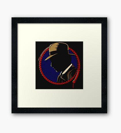 Indiana Jones - Profil Framed Print