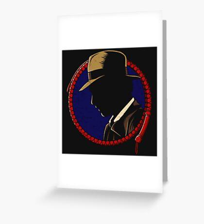 Indiana Jones - Profil Greeting Card