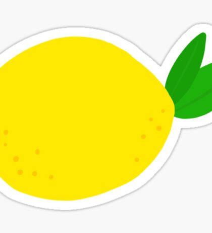 Lemon sticker Sticker