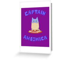 Captain Ameowica Greeting Card