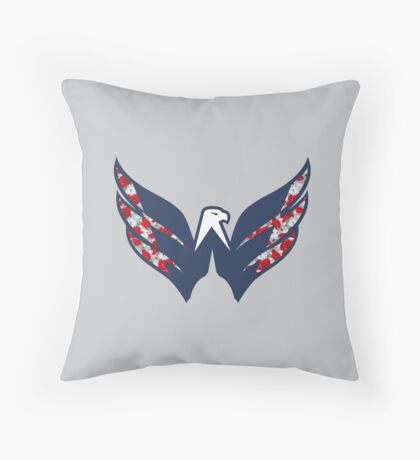 Washing#soft Capitals Throw Pillow