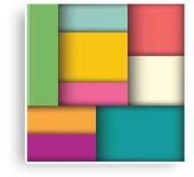 Abstract 3d square background, colorful tiles, geometric Canvas Print