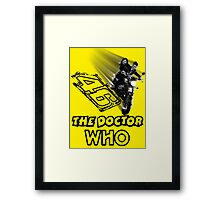 Who is The Doctor 46 Framed Print