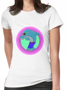 Dolphin Retro Womens Fitted T-Shirt