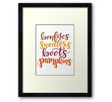 The Best of Fall - 2 Framed Print