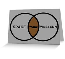 Space Western?  Greeting Card