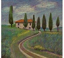 Purple Tuscany Photographic Print