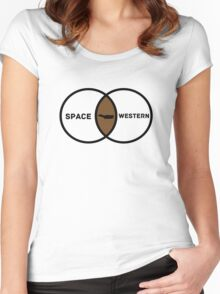 Space Western?  Women's Fitted Scoop T-Shirt