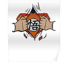 Super saiyan man tshirt Poster