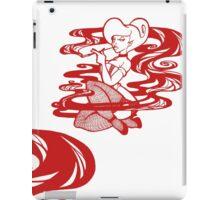 Woman in smoke - Red iPad Case/Skin