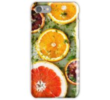 Background from ripe red oranges and grapefruits  iPhone Case/Skin