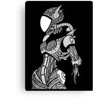 Cyborg girl - On black Canvas Print