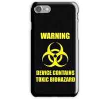 Toxic Biohazard iPhone Case/Skin