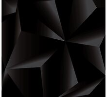 Abstract geometric vector background, 3d, black, template design elements by BlueLela