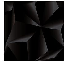 Abstract geometric vector background, 3d, black, template design elements Photographic Print