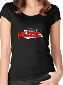 Music Guitar Women's Fitted Scoop T-Shirt