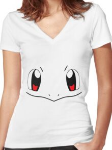 2016 Squirtle Pokemon Costume Punk Harajuku T-shirt Women's Fitted V-Neck T-Shirt