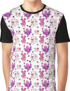 Pokemon Pink Graphic T-Shirt