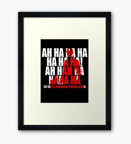 Dr Horrible Laugh  Framed Print
