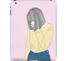 Grunge Girl Rainbow Hair iPad Case/Skin