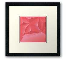 Abstract geometric vector background, 3d, template design elements Framed Print