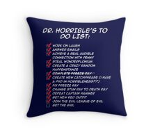 Dr. Horrible's To Do List  Throw Pillow