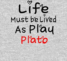 ╚»★Plato's Motivational Quote Clothing & Stickers & Cases & Tote Bags & Home Decor & Stationary★«╝ Zipped Hoodie