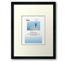 Voice Framed Print
