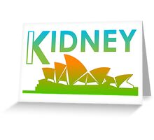 Kidney (Australia Style) Greeting Card