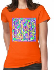 Party Streamers on purple Womens Fitted T-Shirt