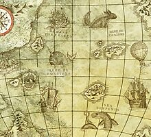 Sea Monsters Map by djrbennett