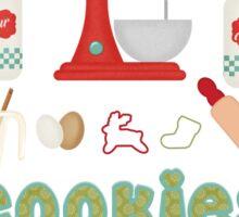 Grandma Products - Grandma's Favorite Christmas Tradition - Cookies Sticker