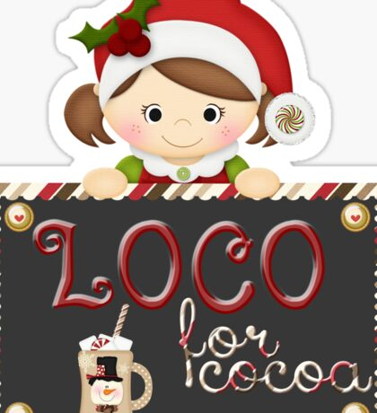 Christmas Products - Loco for Cocoa Sticker