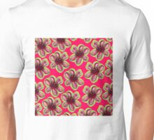 Geraldton Wax Flowers on coral pink Unisex T-Shirt