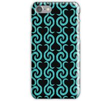 Cyan pattern iPhone Case/Skin