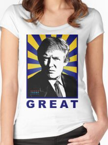 donald trump Women's Fitted Scoop T-Shirt