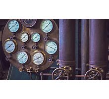 Heritage Pipes and Gauges Photographic Print