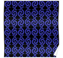 Blue pattern Poster