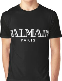BALMAIN(WHITE) Graphic T-Shirt