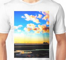 Belfast ferry at Sunset Unisex T-Shirt