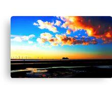 Belfast ferry at Sunset Canvas Print
