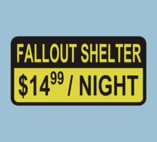 Fallout Shelter Sign with Price Kids Clothes