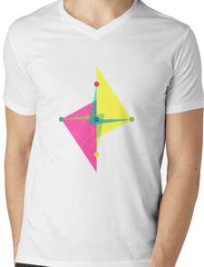 Double Arrow Diamond Mens V-Neck T-Shirt