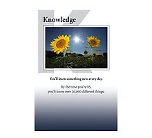 Knowledge Photographic Print
