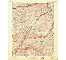 USGS TOPO Map California CA Big Trees 299220 1901 125000 geo Photographic Print