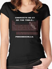 Chemists do it! (Front) Women's Fitted Scoop T-Shirt