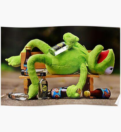 drunk Kermit  Poster