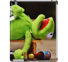 drunk Kermit  iPad Case/Skin
